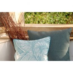Collection Brume - coussin gris bleu