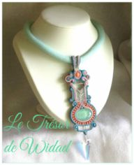 Collier Ras du cou Soutache: tribal ethnique.